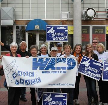 WAND members at a peace vigil