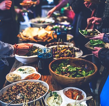potluck food table
