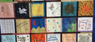 quilt in memory of people killed by drones