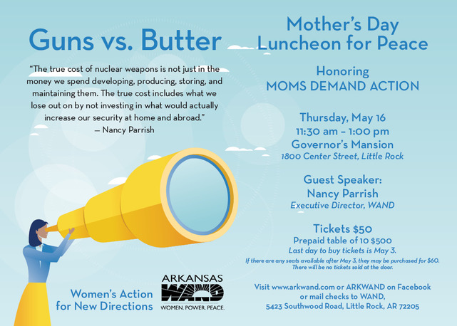 flyer for 2019 Mother's Day Luncheon for Peace
