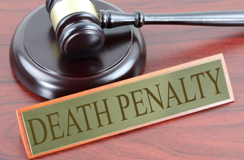 """gavel with plaque that says, """"DEATH PENALTY"""""""